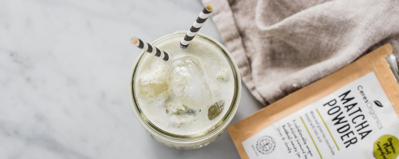 vegan matcha frappe recipe dairy free