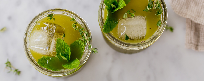 herbed minted matcha green iced tea